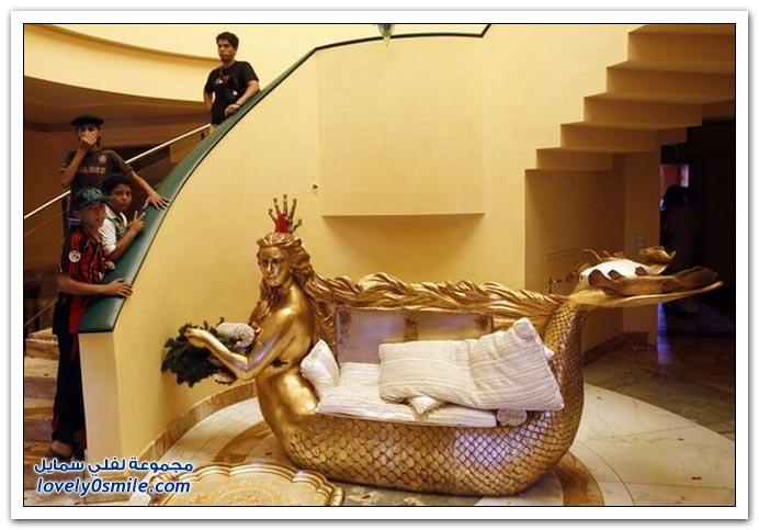 صور لمنزل القذافي وابنته