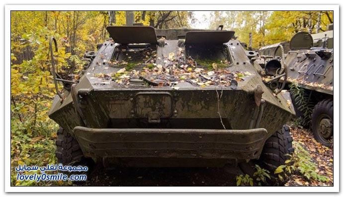 معدات عسكرية روسية مهجورة في الغابات