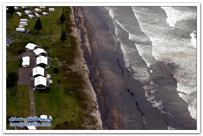 غرق سفينة نقل قرب شاطئ نيوزيلندا