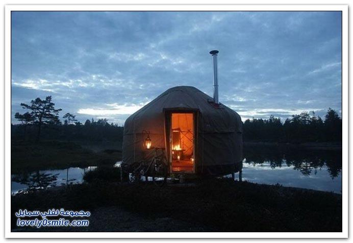 فندق على شكل خيام في النرويج