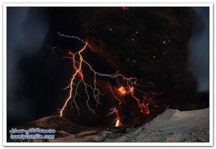 البرق والبركان