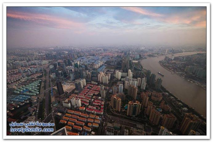 مدينة شنغهاي من الأعلى
