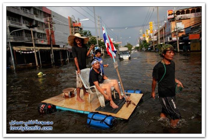 وسائل النقل في تايلاند أثناء الفيضانات