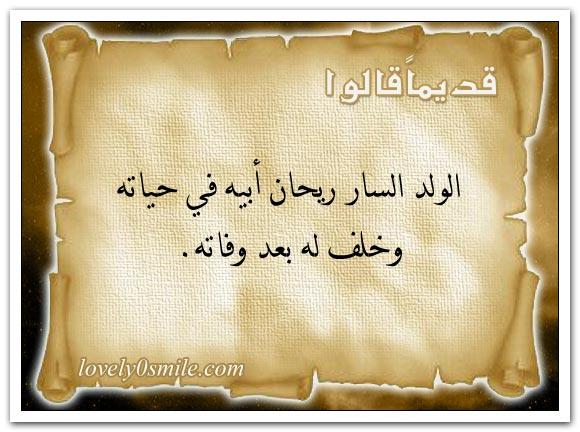 لا غنى يعدل صحة البدن ولا سرور يعدل سعة الصدر + الدين أقوى عصمة والأمن أفضل نعمة