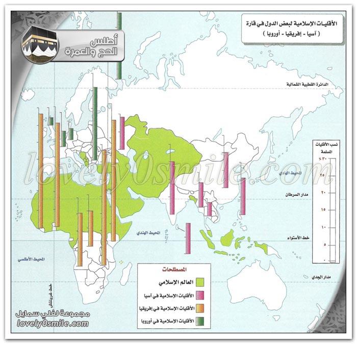 الدول والأقاليم الإسلامية في قارة آسيا وإفريقيا وأوروبا