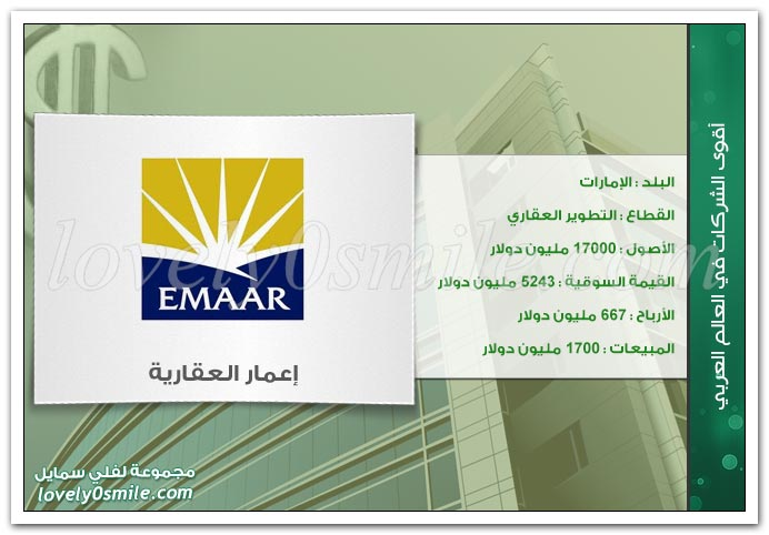 أقوى الشركات في العالم العربي