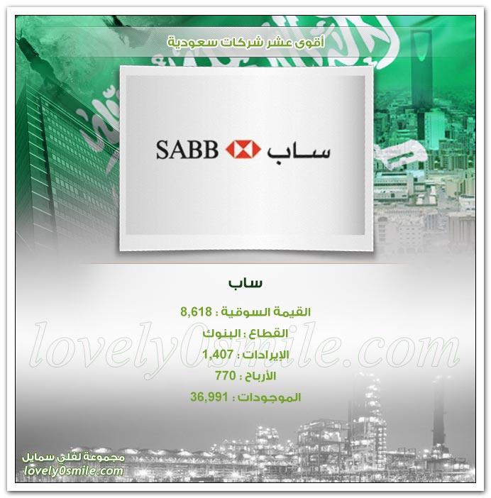 أقوى عشر شركات سعودية