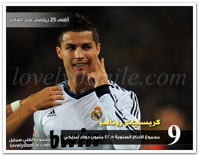 أغنى 25 رياضي في العالم لعام 2012