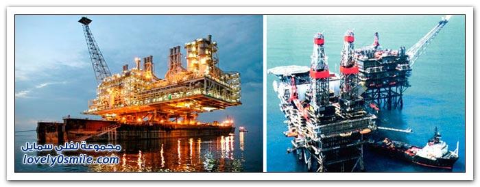 أضخم منصات استخراج النفط والغاز في العالم