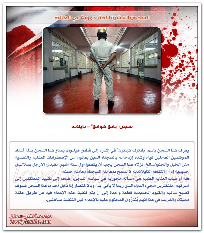 السجون العشرة الأكثر دموية في العالم
