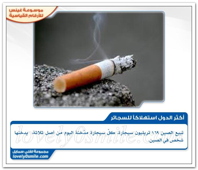 أكثر الدول استهلاكاً للسجائر , للخبز + أكثر بلد معروف بعدد جراحات التجميل