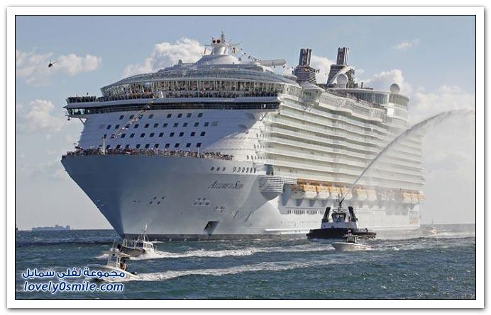 من أكبر السفن السياحية في العالم