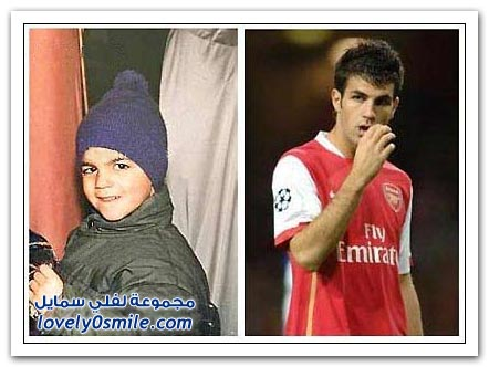 مشاهير كرة القدم أيام طفولتهم والآن