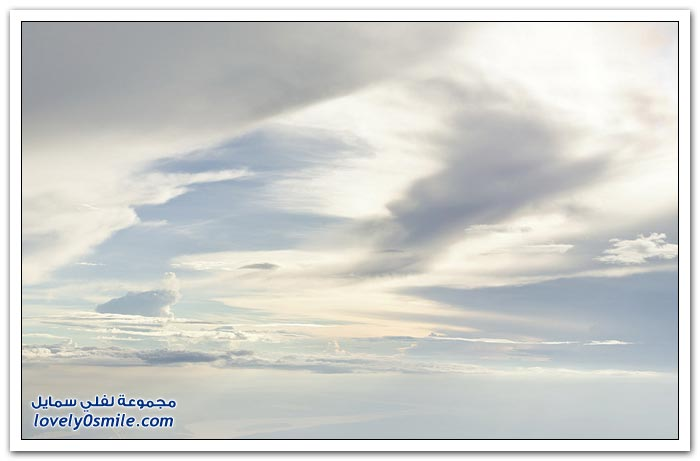 تصوير الغيوم على ارتفاع 6000 متر