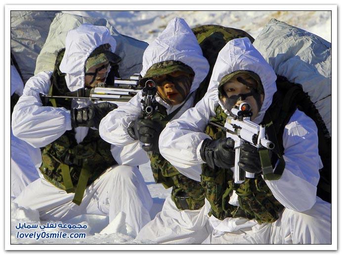 تدريب كوريا الجنوبية الثلج