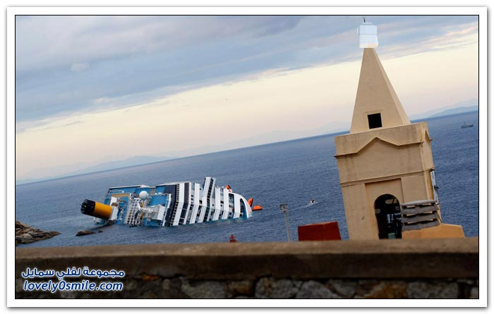 لحظات غرق السفينة كوستا كونكورديا