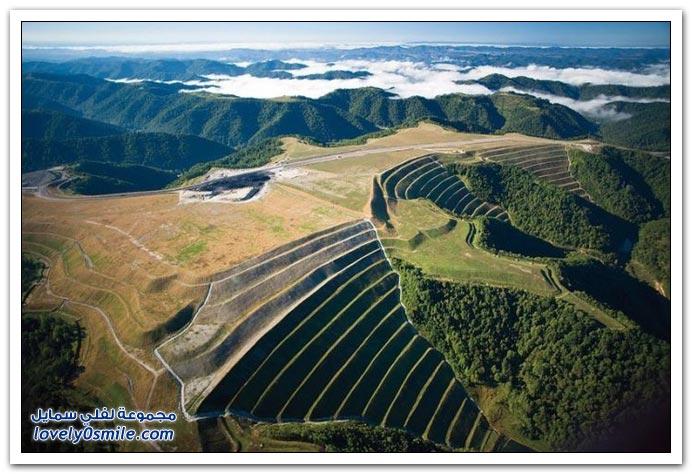 تصوير من الأعلى لمناظر حول العالم
