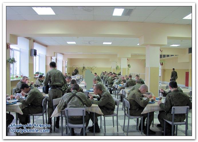أحد المعسكرات الخاصة للجيش الروسي