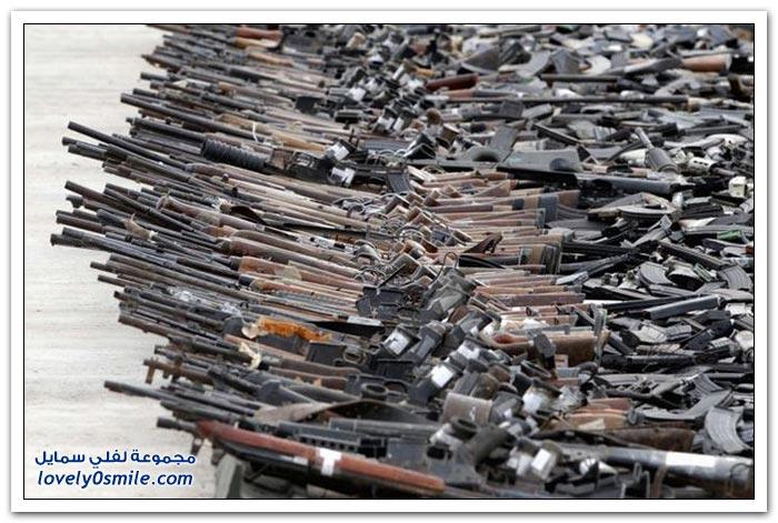 دبابة تدمر 6788 مسدد وبندقية كانت لتجار المخدرات