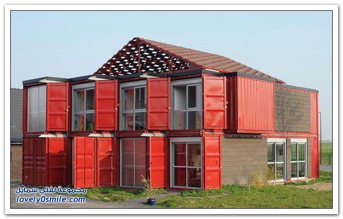 منزل يبنى بالحاويات