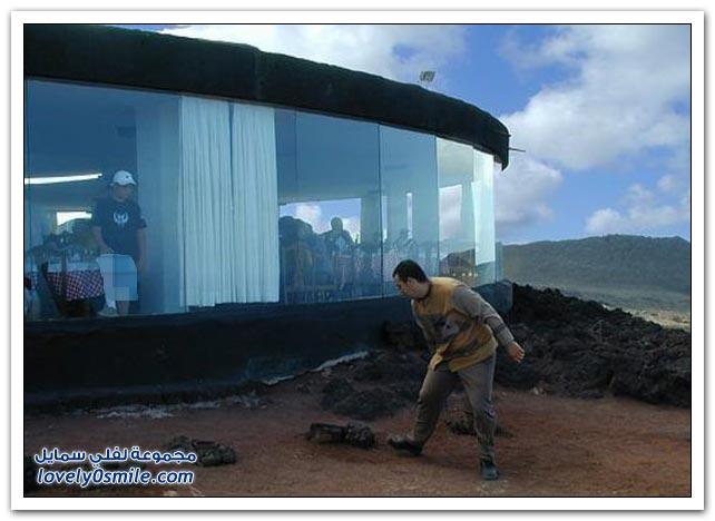 مطعم على قمة بركان