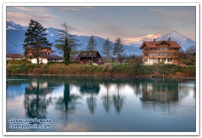 سويسرا وكأنها لوحة فنية غاية في الجمال- سبحان الخالق