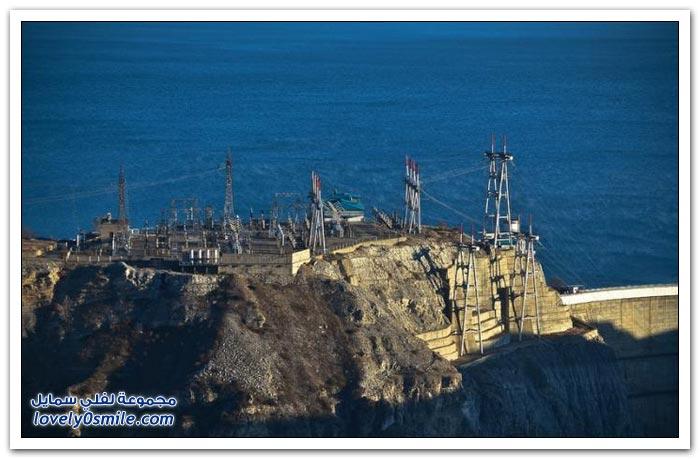 سد شيركي أطول سد مقوس في روسيا