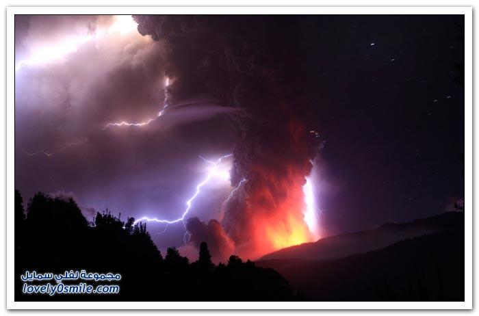 صور: النشاط البركاني حول العالم خلال عام 2011
