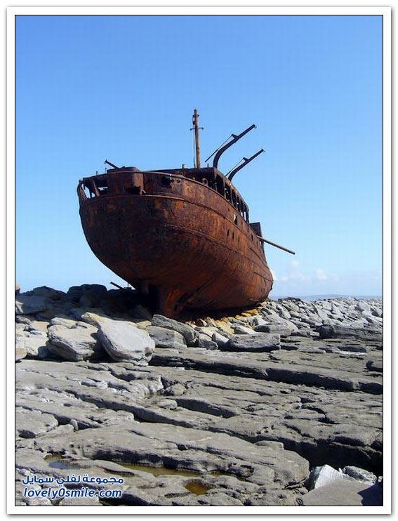 بقايا سفن