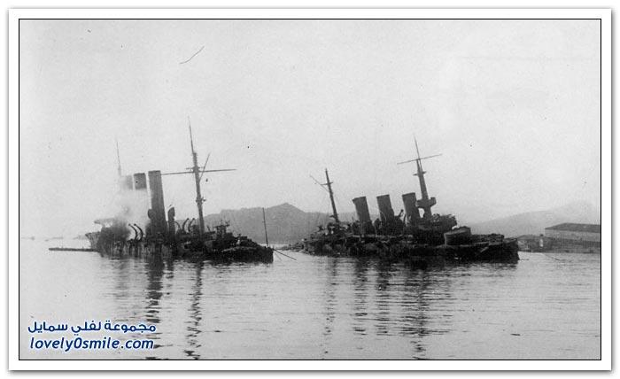 صور قديمة جدا من سفن الأسطول الروسي في المحيط الهادي