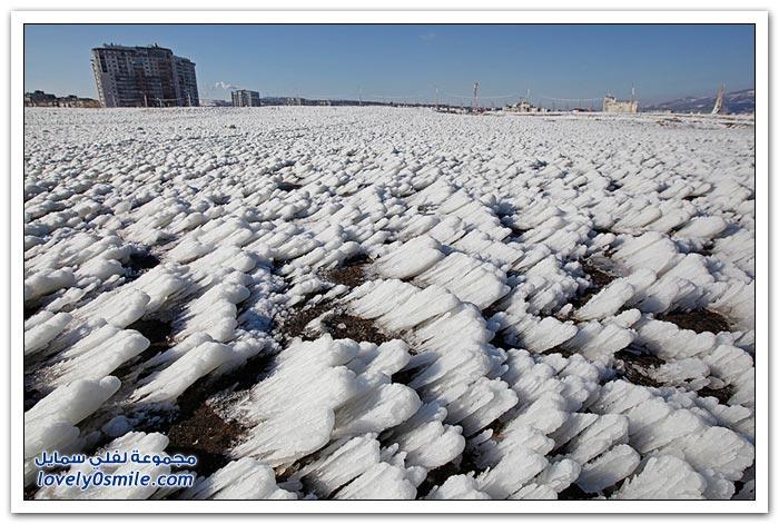 صور بعد عاصفة ثلجية في روسيا