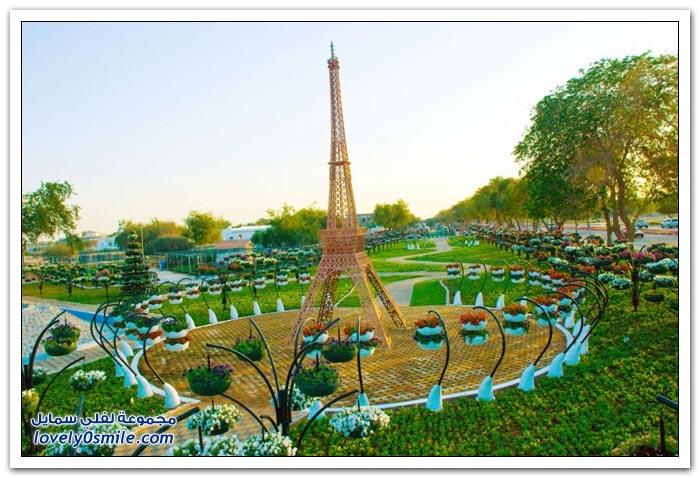 حديقة العين بارادايس في الإمارات التي دخلت موسوعة غينيس Hanging_flowers_21