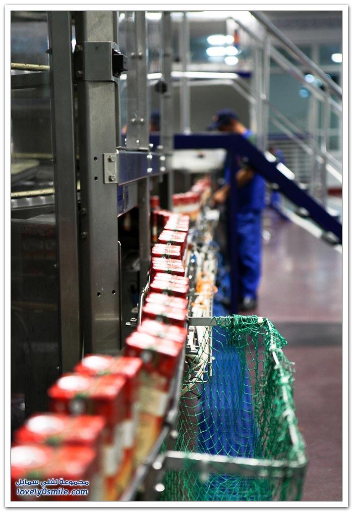 صور لأكبر مصانع تعليب العصير في أذربيجان