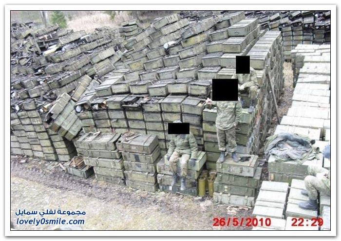 أحد مخازن الذخيرة المهملة في روسيا