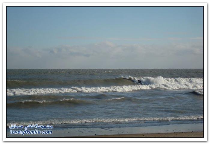 ركوب الأمواج في الشتاء تتوقع وش نهايته؟