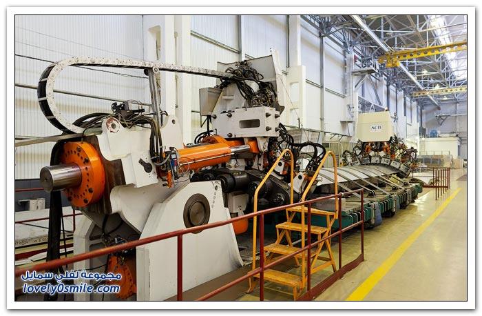 مصنع طائرات في روسيا