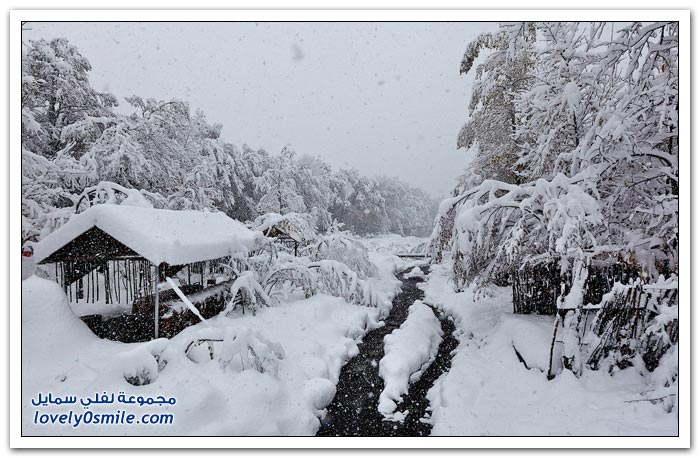 صور أذربيجان في الثلج