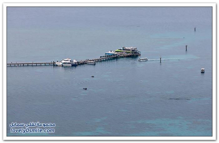 الحاجز المرجاني الضخم على ساحل مدينة كيرنز الأسترالية