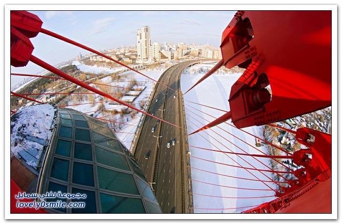 أحد جسور موسكو طور الإنشاء