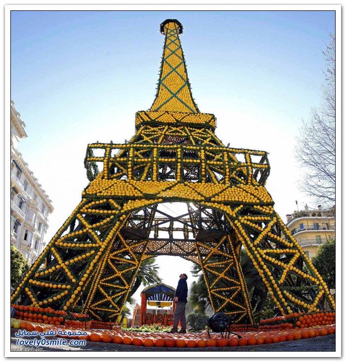 مهرجان الحمضيات في منطقة الريفيرا بجنوب فرنسا