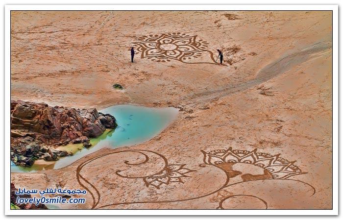 الرسم الرمال~تجميعي