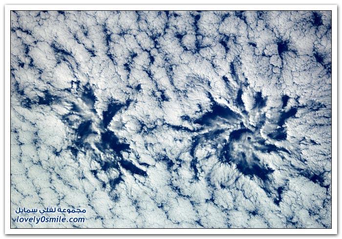 الأرض والسحاب من على ارتفاع 12 كيلو فوق سطح البحر