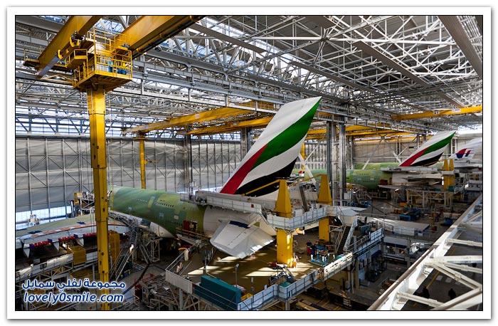 مصنع طائرة A380 وكيف تبدو من الداخل؟