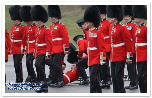صور الإغماء لبعض العسكريين