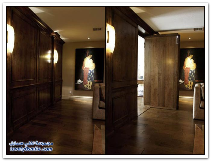أبواب خزانات سرية