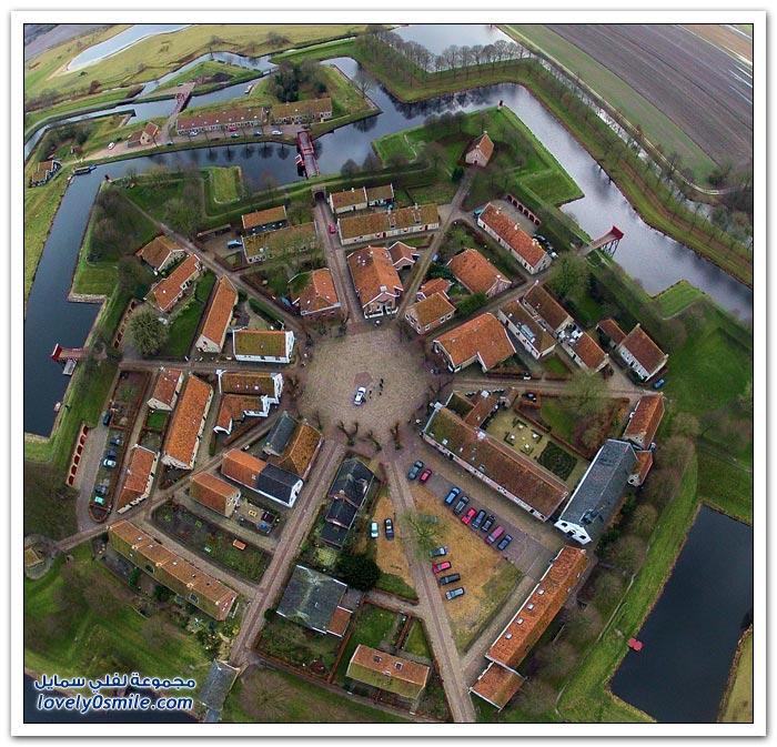 قلعة نجوم Bourtange في هولندا