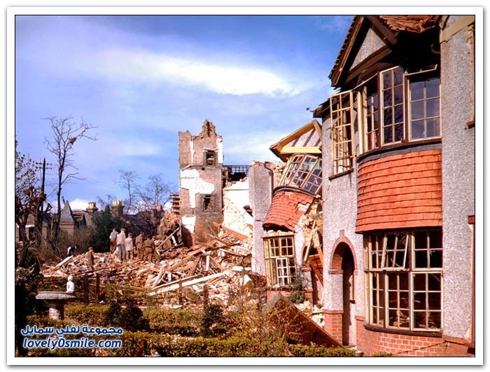 صور ملونة من لندن أثناء الحرب العالمية الثانية