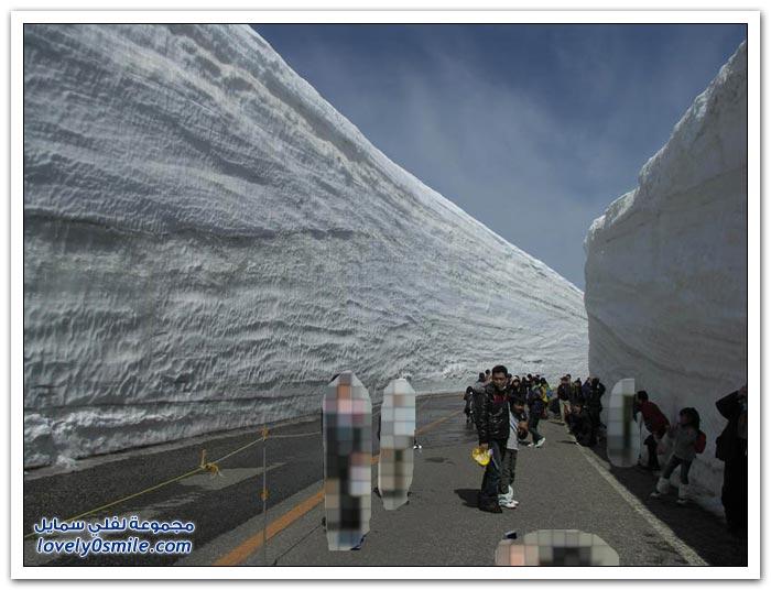 20 متر ممر الثلوج في اليابان