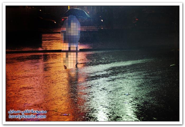 مناظر رائعة أثناء هطول الأمطار
