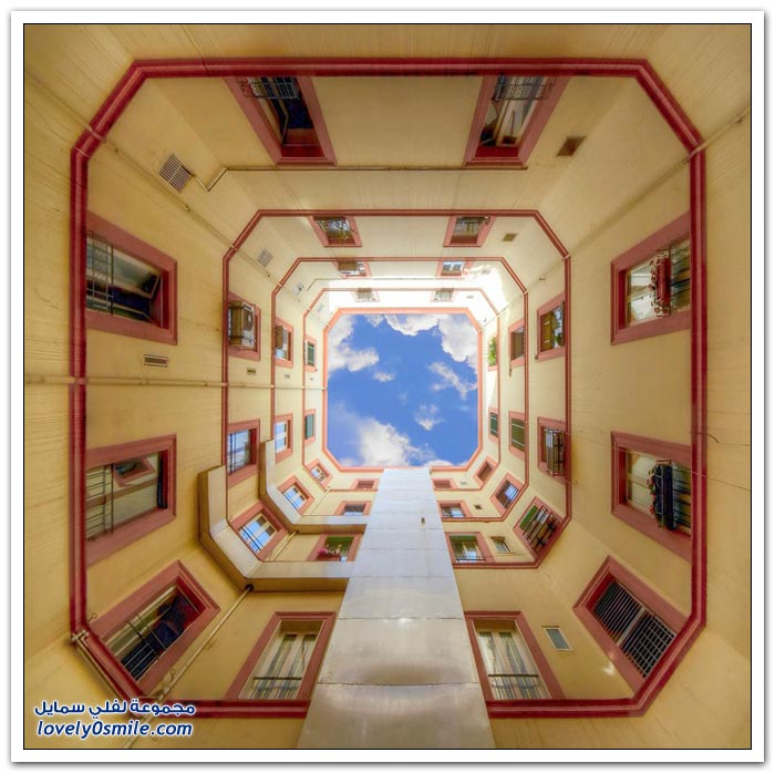 صور رائعة للسماء من بين البنايات